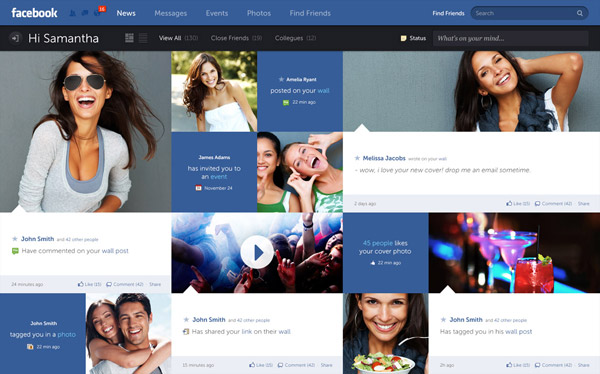 Facebook Redesign by Fred Nerby
