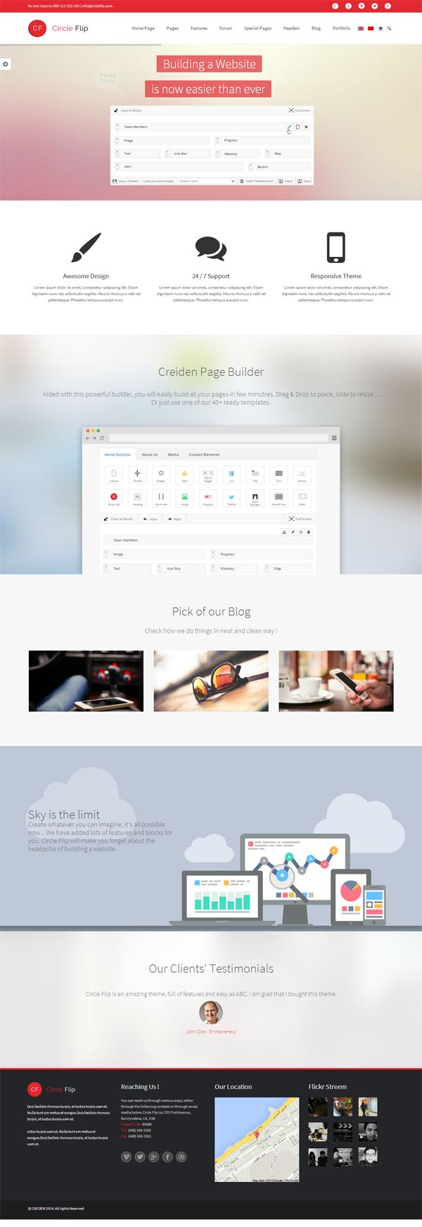 Circle Flip – Responsive Multipurpose Theme