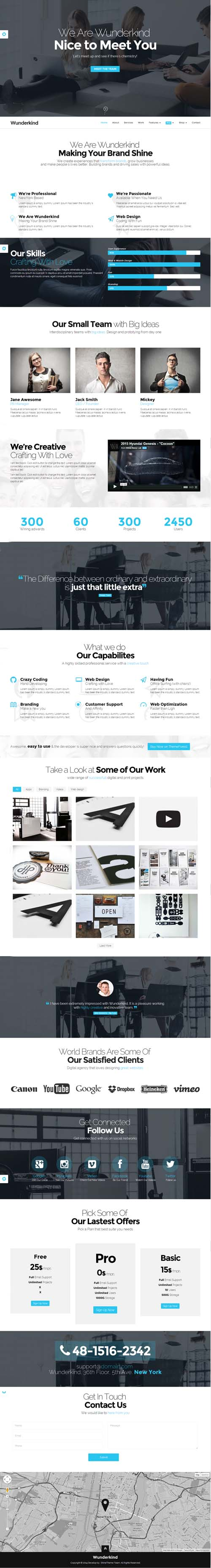 Wunderkind - One Page Parallax WordPress Theme