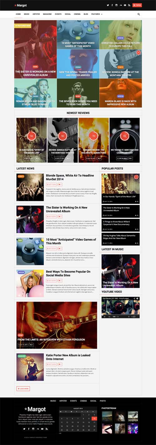 Margot - Responsive WordPress News Theme