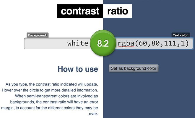 github free color contrast ratio checker