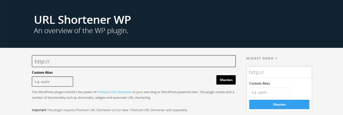 Premium URL Shortener WordPress Plugin