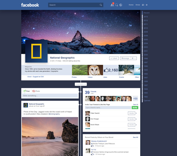 Facebook Redesign by GianniDesign