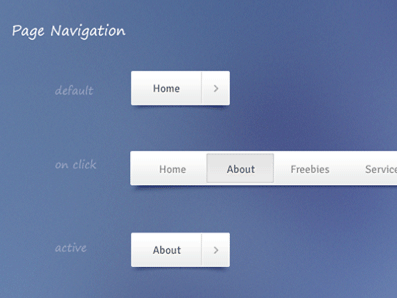 Freebie – Navigation (Free PSD and CSS)
