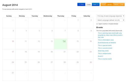 Bootstrap Calendar