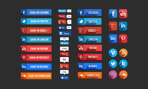 Free Facebook Like Buttons PSD