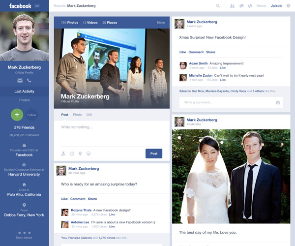 Facebook Timeline Concept by Alex Osorio