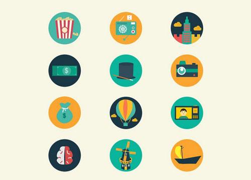 110 Coloured Icons - Meroo Icons