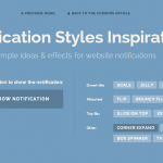 Notification Styles with CSS Animations for Inspirations