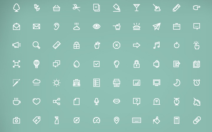 32 Simplistic Line Icons for UI Design Inspiration