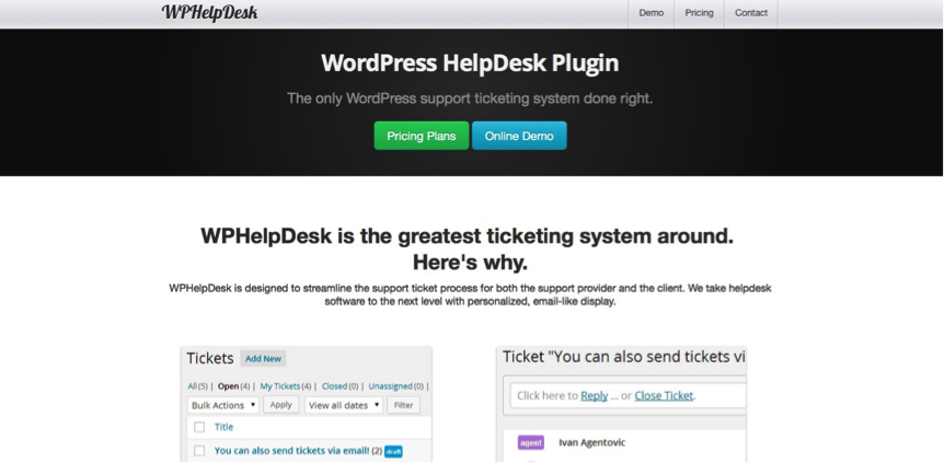 WPHelpDesk plug in for WordPress