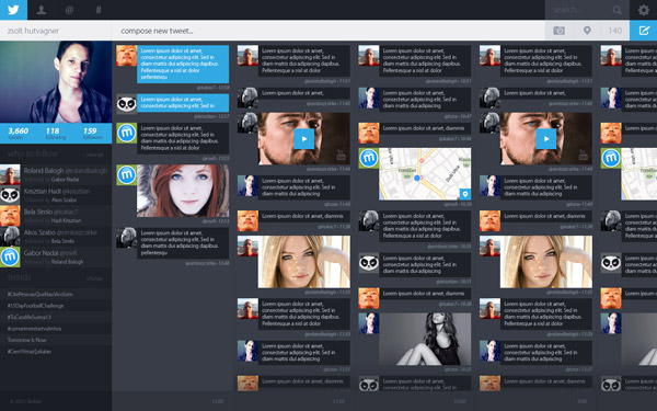 Twitter Redesign Concept by Zsolt Hutvagner