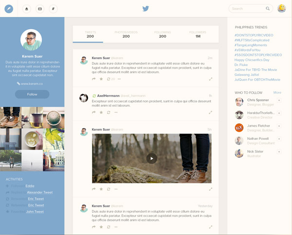 Twitter Profile by Bluroon