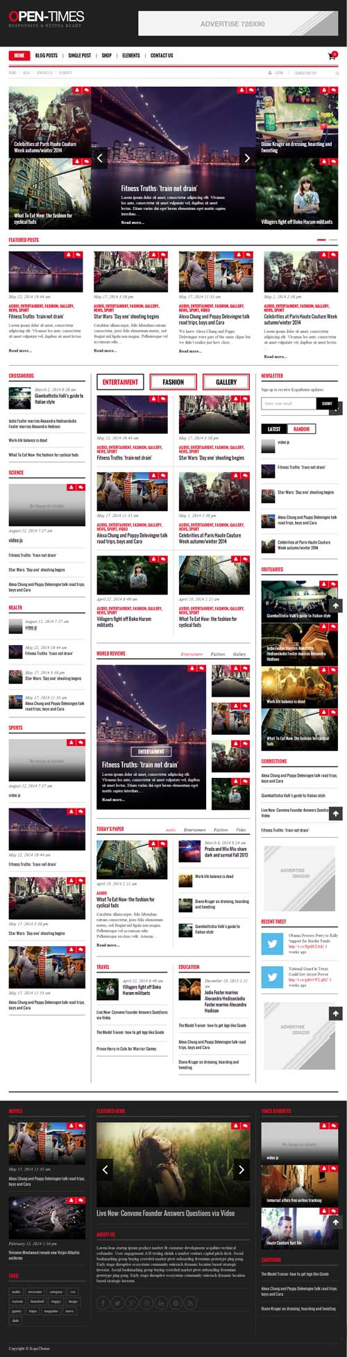 Open Times Magazine WordPress theme