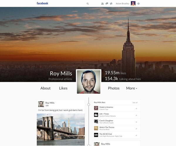 Facebook Timeline Redesign by Vitalijs Silkins