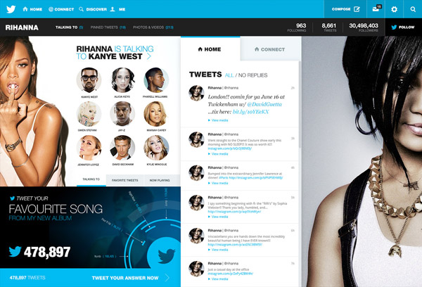 Twitter Redesign by Fred Nerby