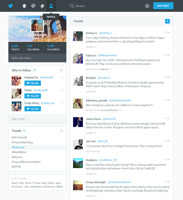 Twitter Redesign by Dmitri Litvinov