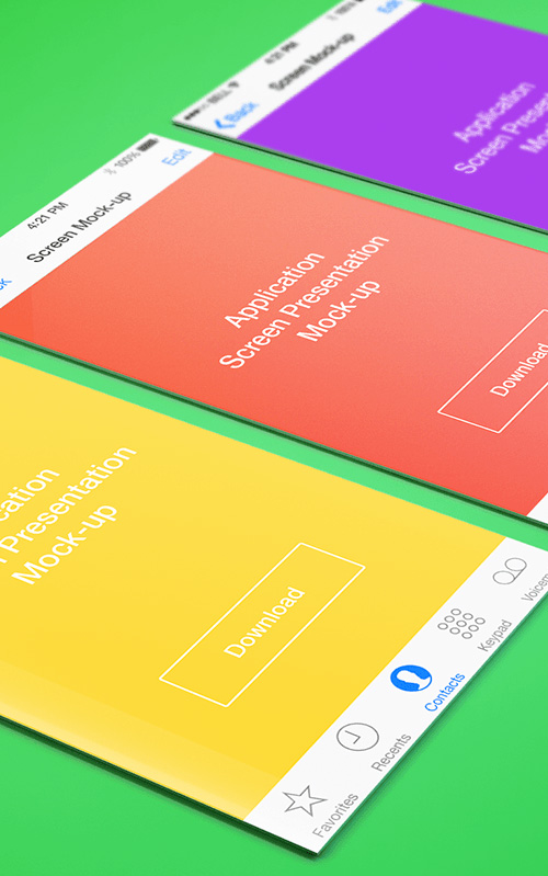 App Screen Presentation Mock-ups