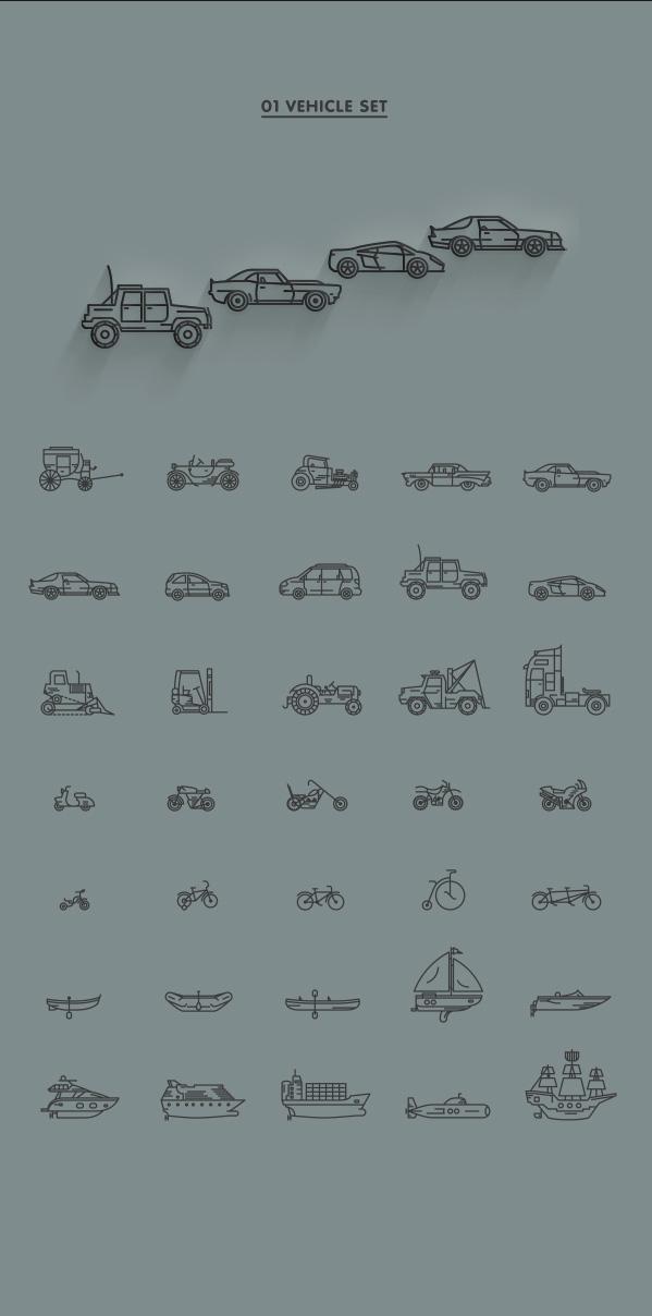 1.Line Icon Sets