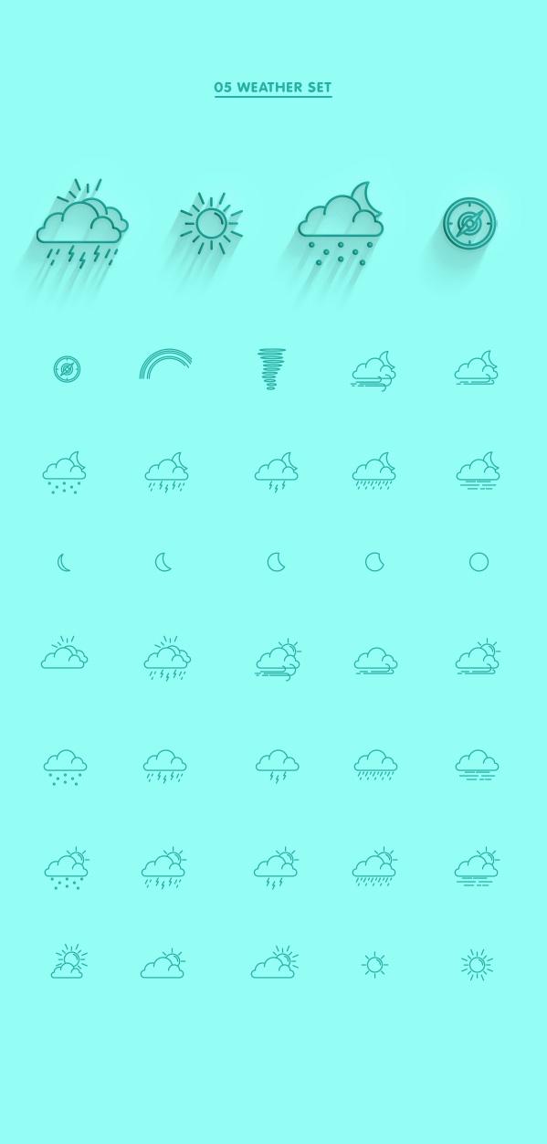 5.Line Icon Sets