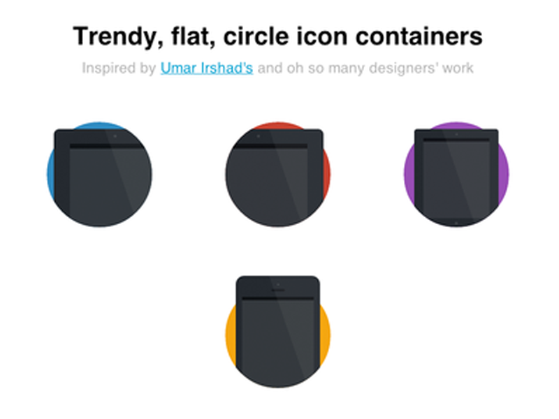 CSS Only Flat Container