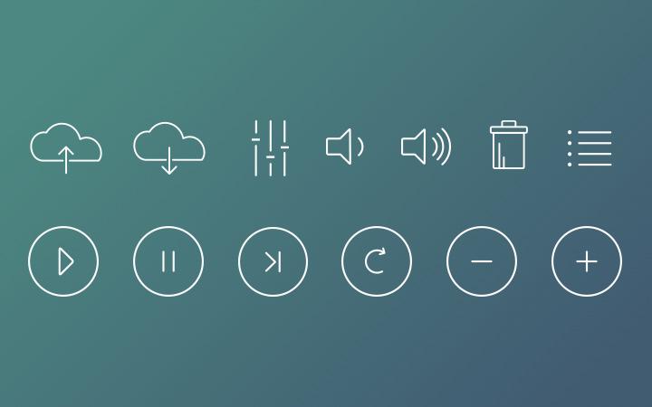 super thin line icons set