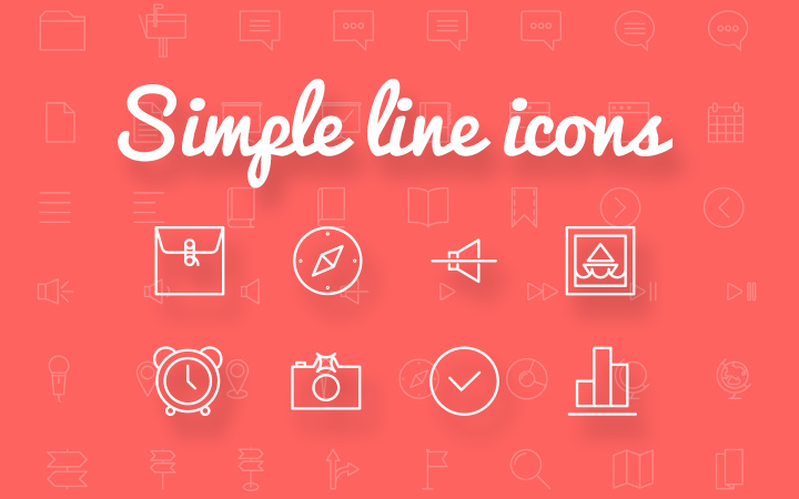 freebie ai svg psd simple line icons pack