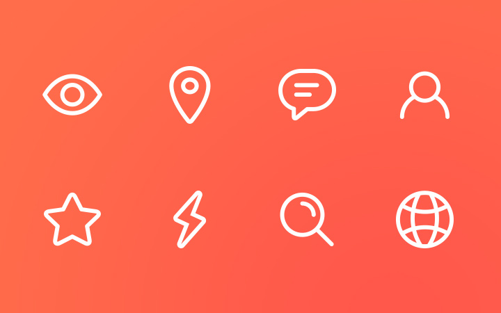 pudgy line icons thin design