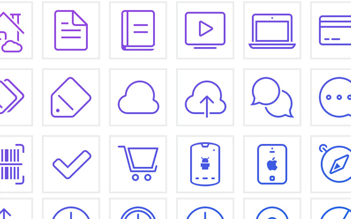 shop savvy line icons design pack
