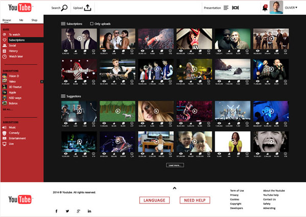 YouTube Concept by Jaroslav Hach