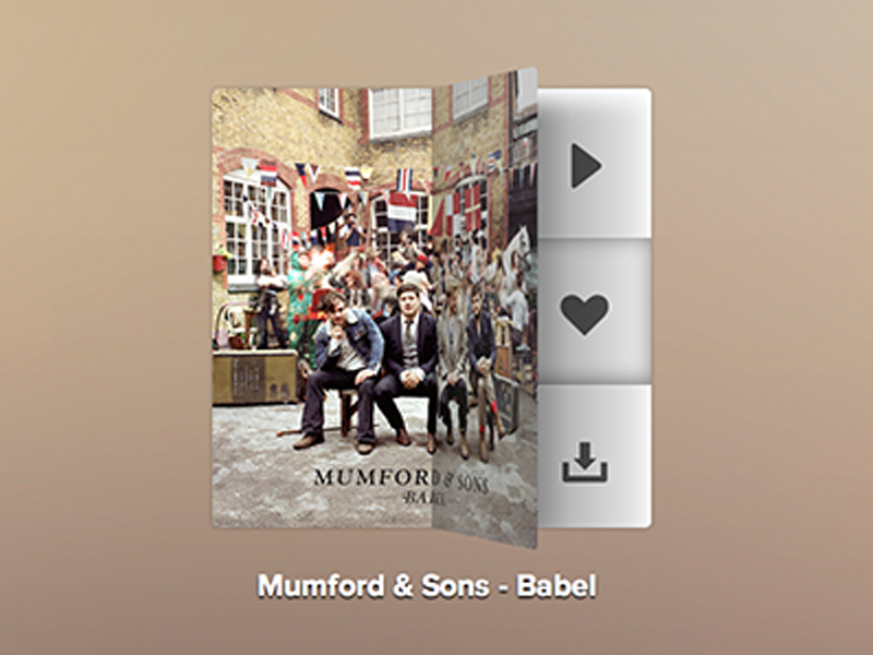 CSS-only Flipping Music Player