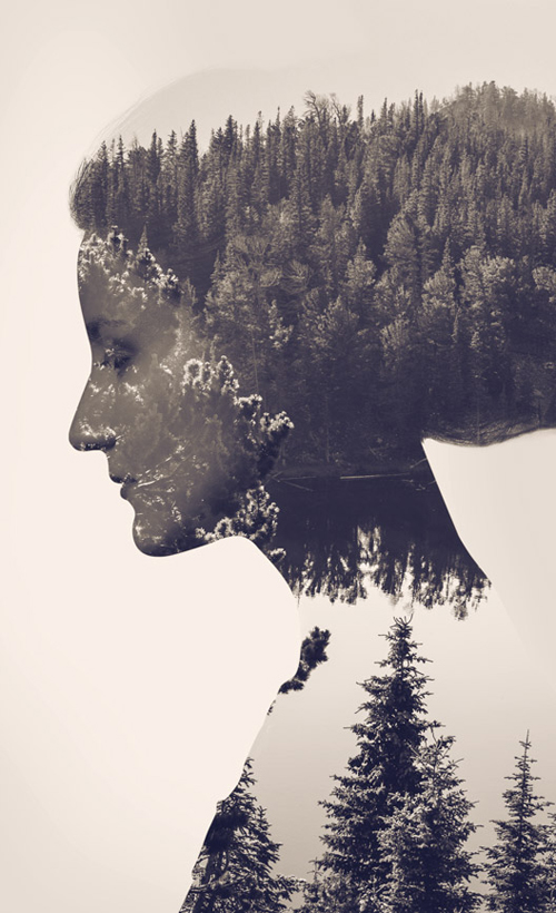 how to make a double exposure in photoshop elements