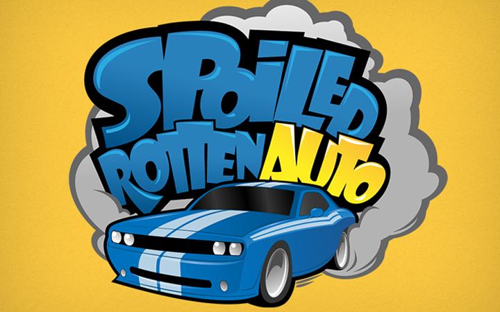 bright vector logo spoiled rotten auto