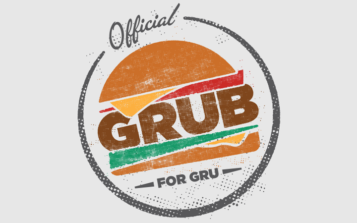 grub for gru logo custom design hamburger