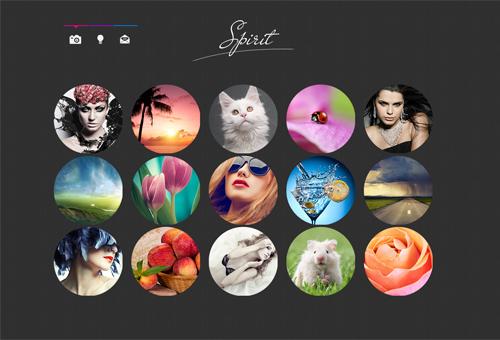 Portfolio Website Design with Circle Image Previews