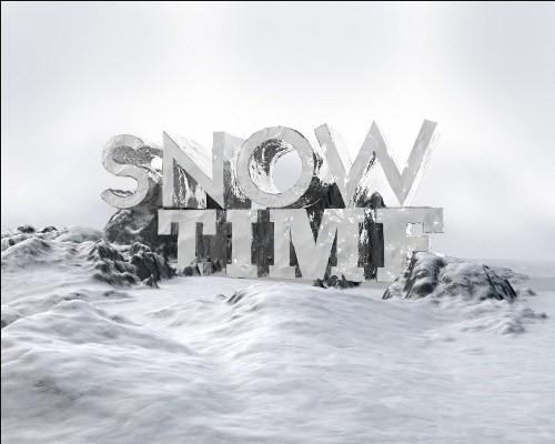 snowy 3d text tutorial psdvault 12 Create 3D Snow Text Effect Using Cinema4D and Photoshop