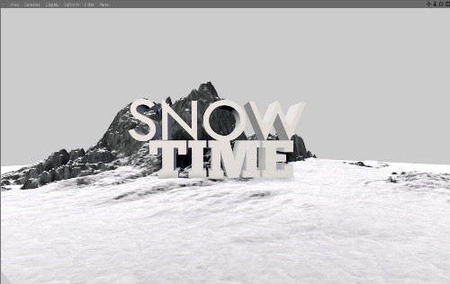 snowy 3d text tutorial psdvault 8 Create 3D Snow Text Effect Using Cinema4D and Photoshop