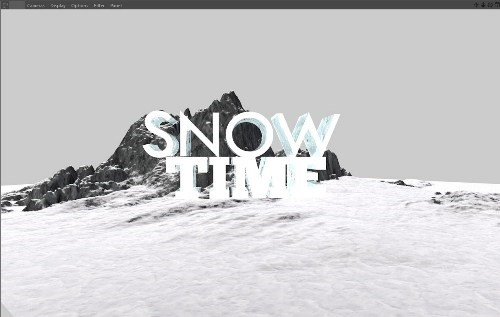 snowy 3d text tutorial psdvault 9 Create 3D Snow Text Effect Using Cinema4D and Photoshop