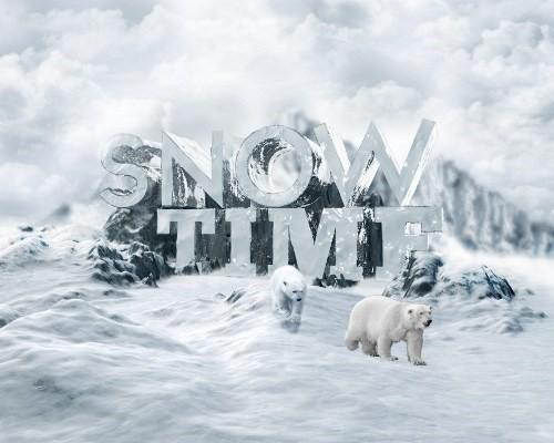 snowy 3d text tutorial psdvault 37 Create 3D Snow Text Effect Using Cinema4D and Photoshop