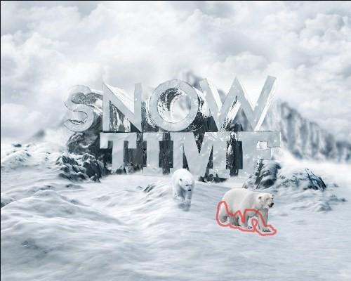 snowy 3d text tutorial psdvault 38 Create 3D Snow Text Effect Using Cinema4D and Photoshop