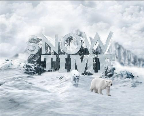 snowy 3d text tutorial psdvault 39 Create 3D Snow Text Effect Using Cinema4D and Photoshop
