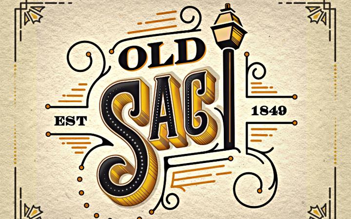 old sacramento logo typography branding