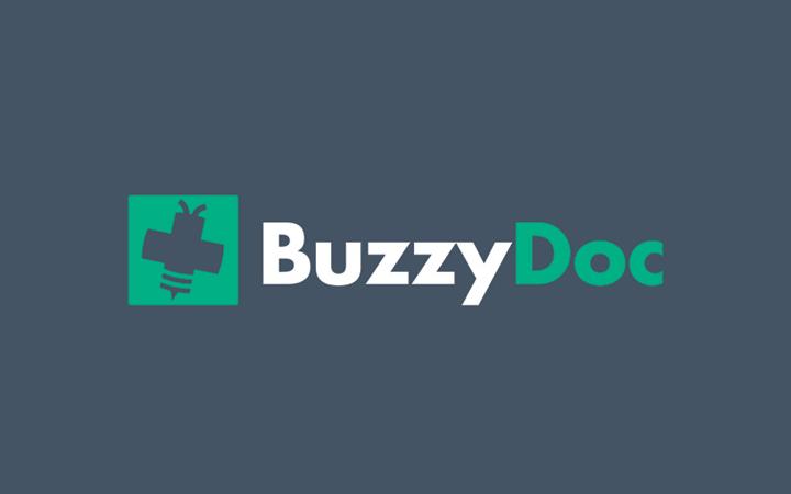 buzzydoc clean lettering logo design