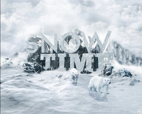 snowy 3d text tutorial psdvault 42 Create 3D Snow Text Effect Using Cinema4D and Photoshop