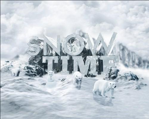 snowy 3d text tutorial psdvault 43 Create 3D Snow Text Effect Using Cinema4D and Photoshop