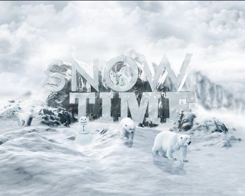 snowy 3d text tutorial psdvault 44 Create 3D Snow Text Effect Using Cinema4D and Photoshop