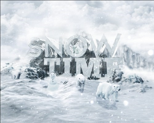snowy 3d text tutorial psdvault 45 Create 3D Snow Text Effect Using Cinema4D and Photoshop