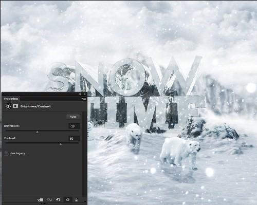 snowy 3d text tutorial psdvault 48 Create 3D Snow Text Effect Using Cinema4D and Photoshop