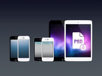 iPhones & iPad minis PSD