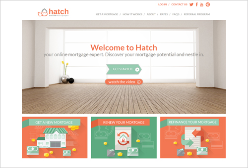 Hatch Mortage with Creative Arrow CTA Button